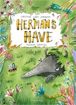 Herman's garden, children's book by author Christine Lund Jakobsen, with bright and sunny illustrations by Zarah Juul.