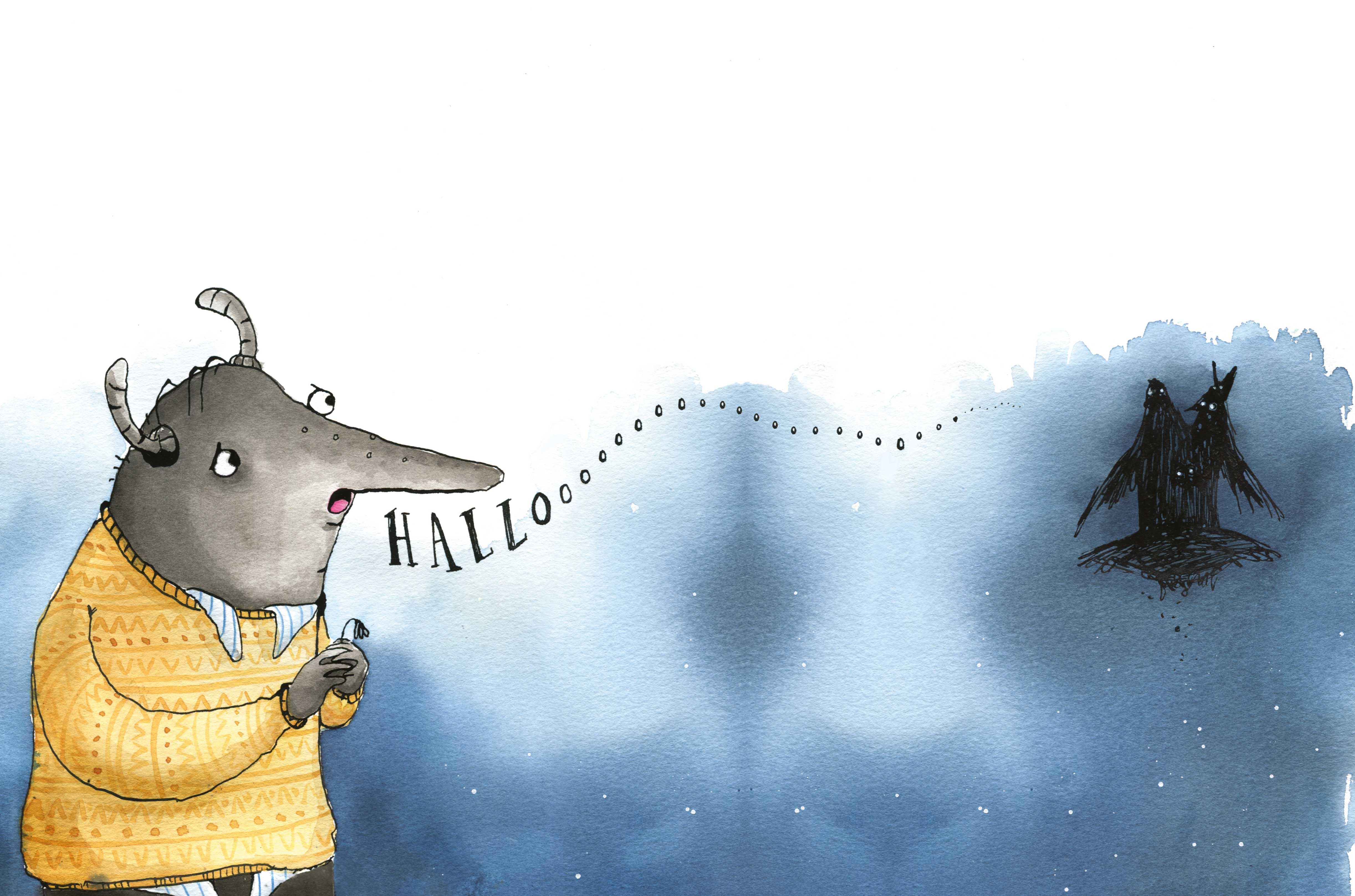 Illustration fra Hermans have af Christine Lund Jakobsen, illustreret af Zarah Juul. Udgivelsesdato: 12. oktober.