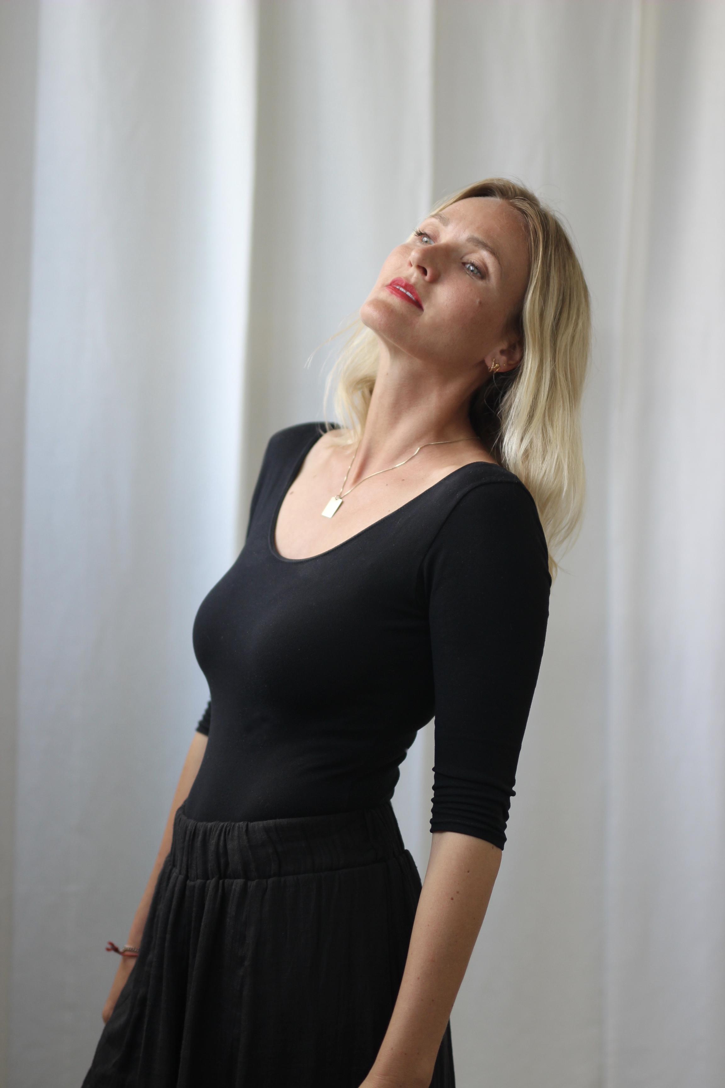 Marie Louise Tüxen, der udgiver romanen 'Jeg ser mig selv som rytmisk' d. 11. oktober 2017. Foto: Nina Dissing.