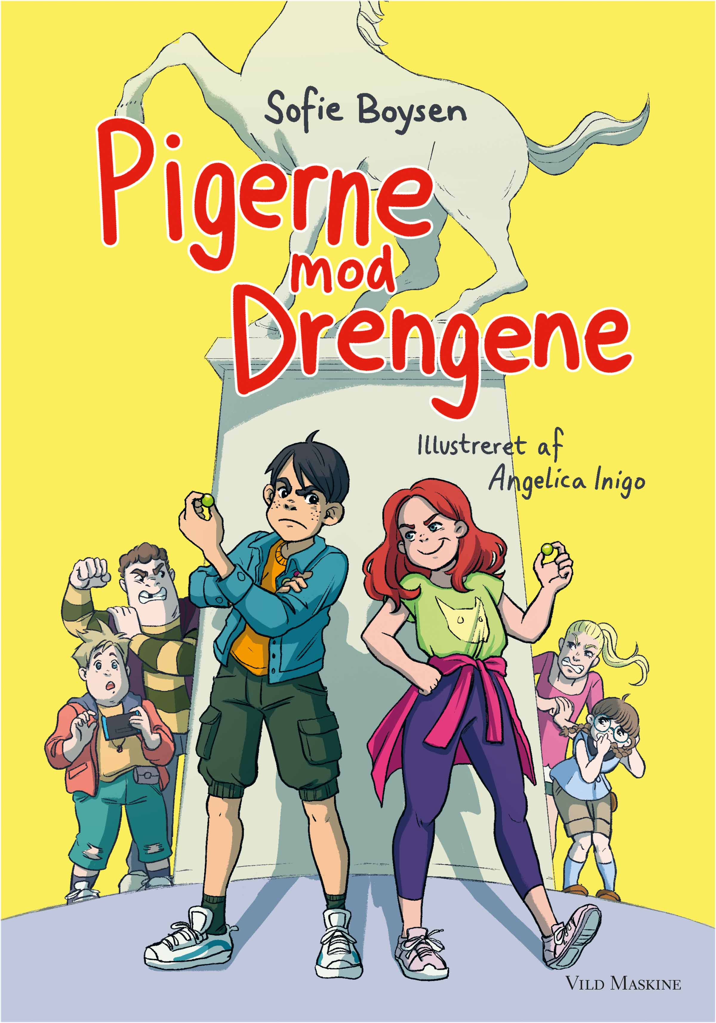 """""""Pigerne mod drengene"""" af Sofie Boysen, illustreret af Angelica Inigo. Udgivelsesdato: 25. oktober."""