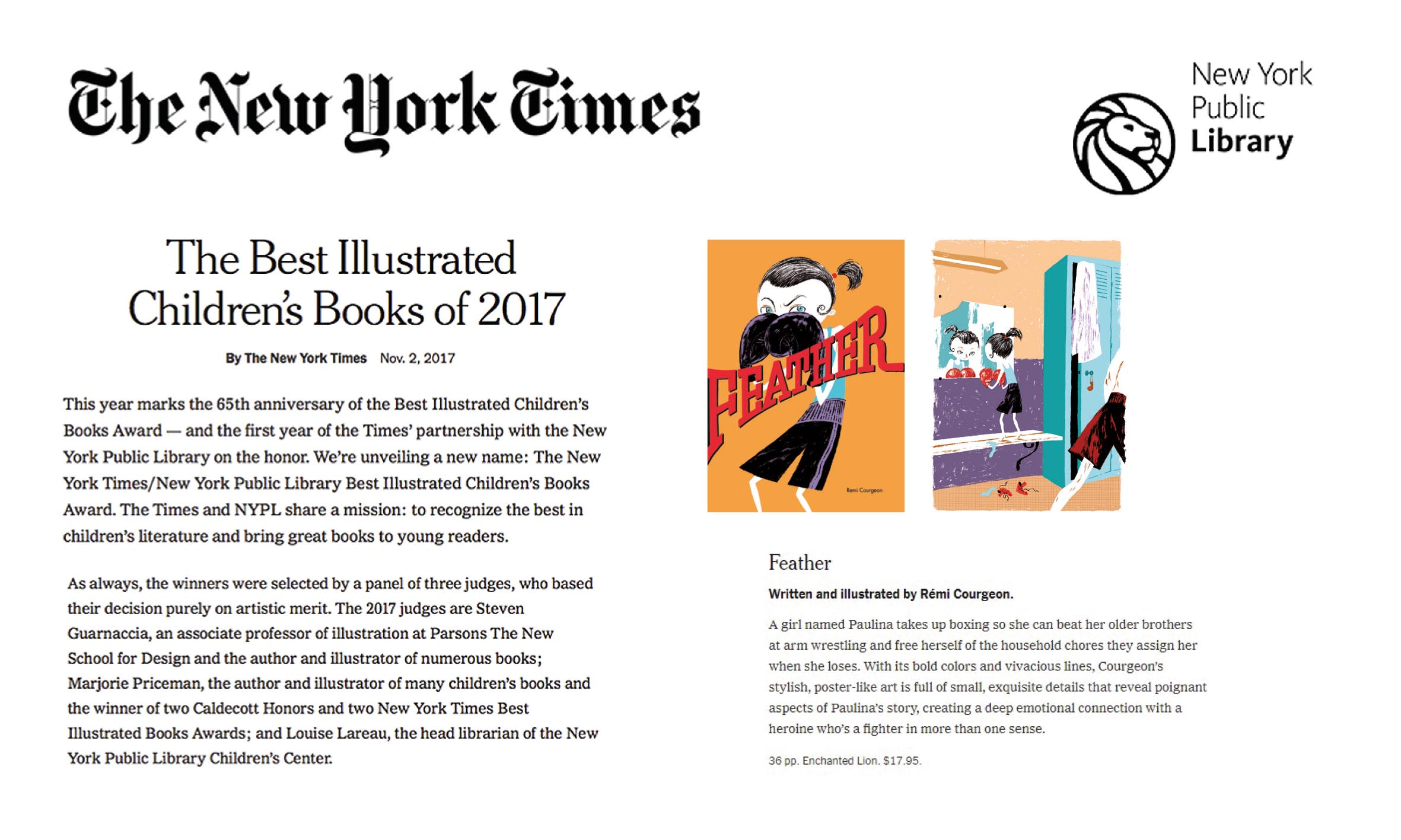 Best illustrated books New York Times Lille Pil