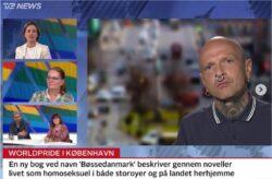 Nikolaj Tange Lange blev interviewet af TV2 News i forbindelse med udgivelsen af BØSSEDANMARK.