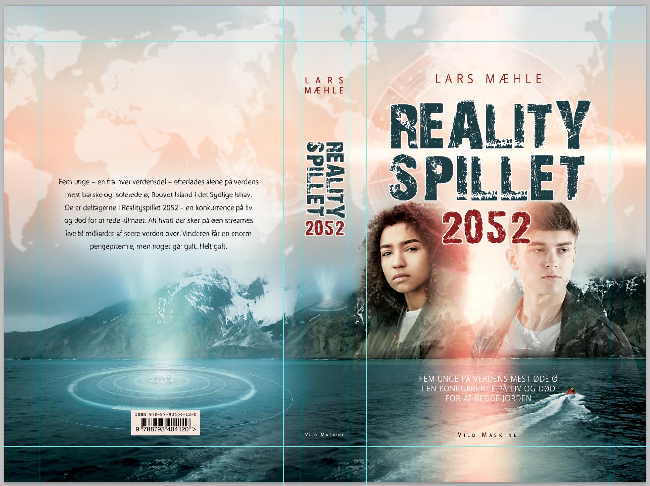 Realityspillet 2052. Omslag af Mette Breth.