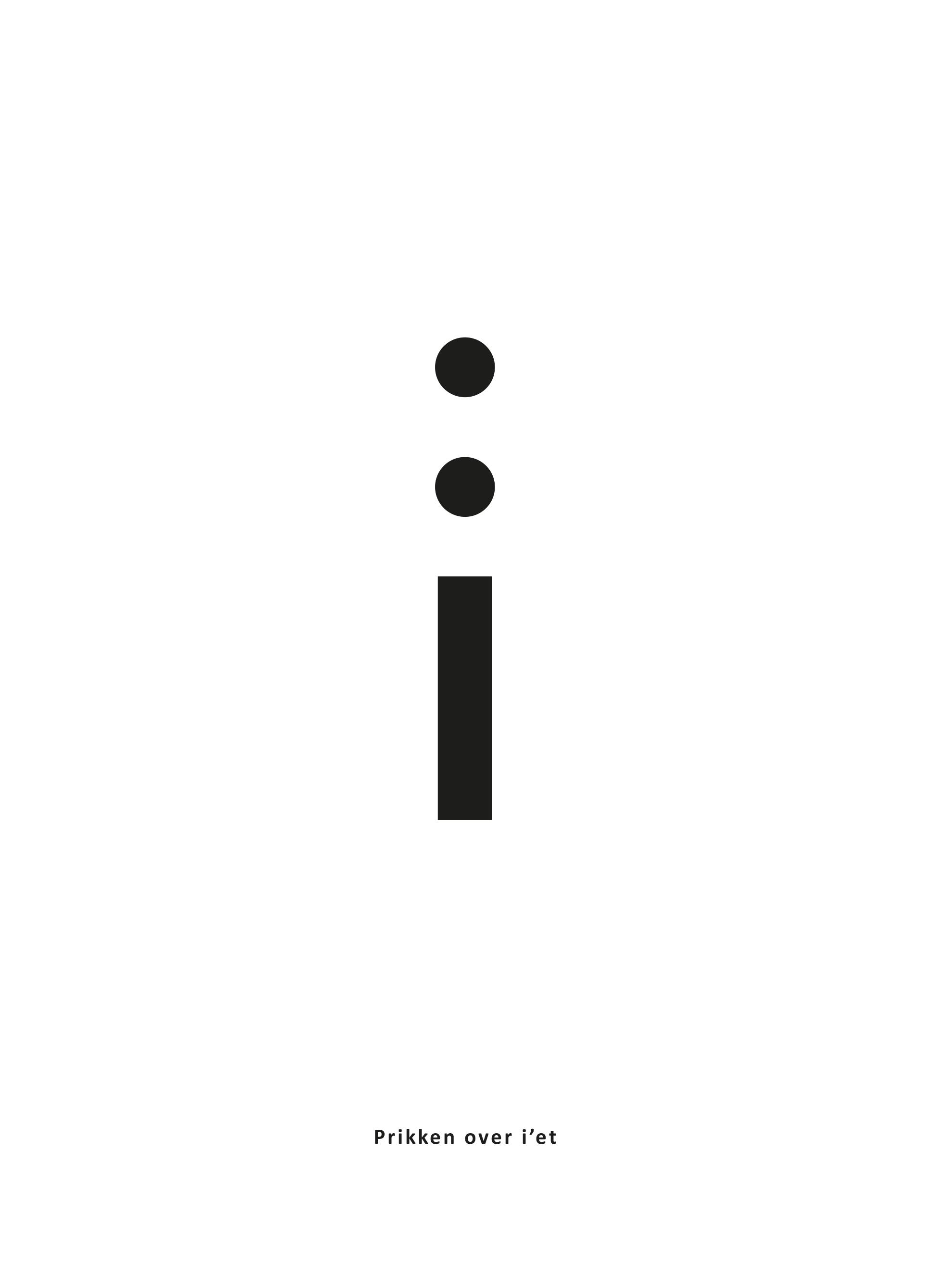 'Prikken over i'et', digt fra Thomas Kirks 'Hvad siger sproget?', der udkommer 10. december 2020. (Findes i høj opløsning i dropboxen, se ovenfor.)