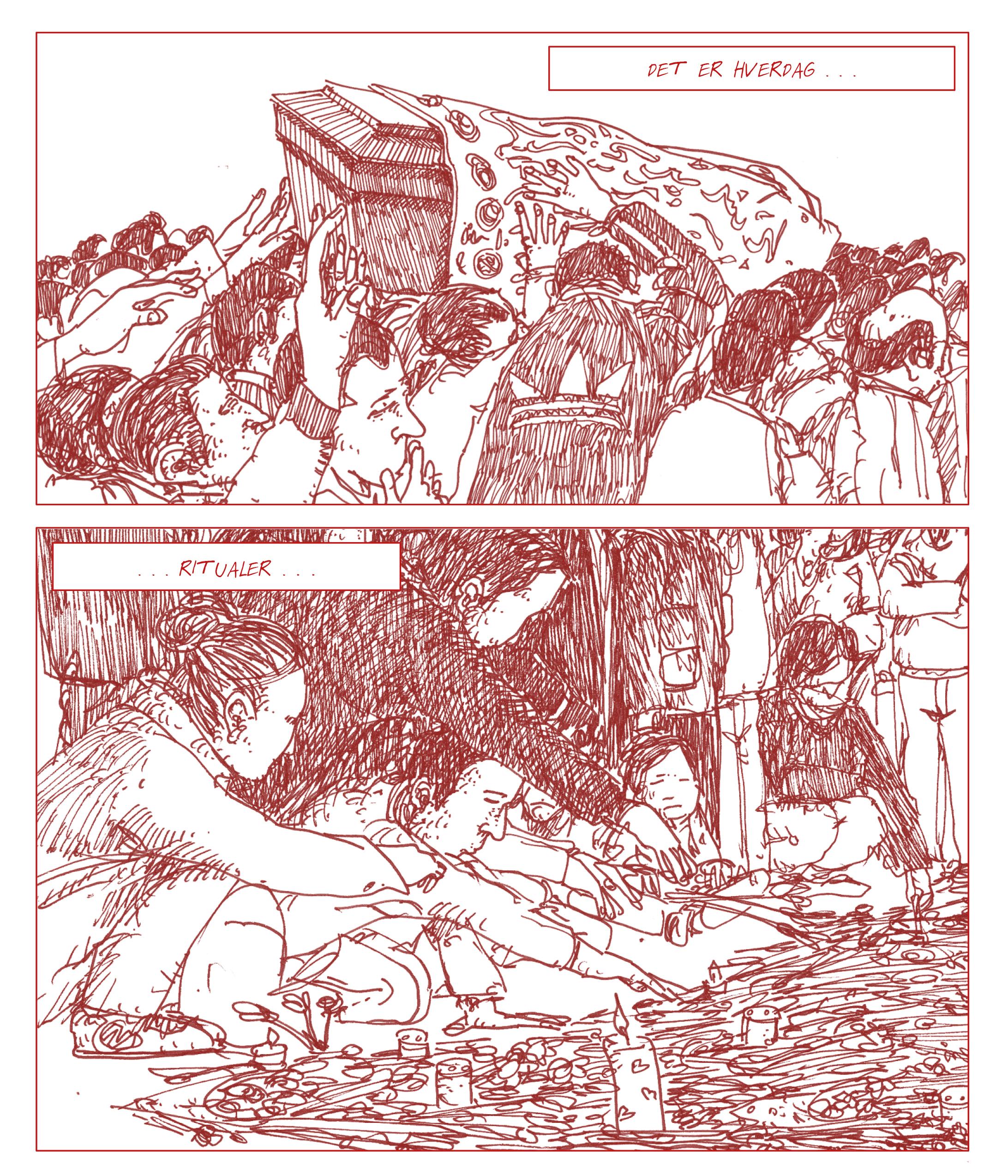 """Side 17 fra """"Terror på hjernen"""", en tegneserie af Jakob Albrethsen, udgivelsesdato: 29. november 2019."""